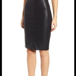 Blank NYC Faux Leather Pencil Skirt
